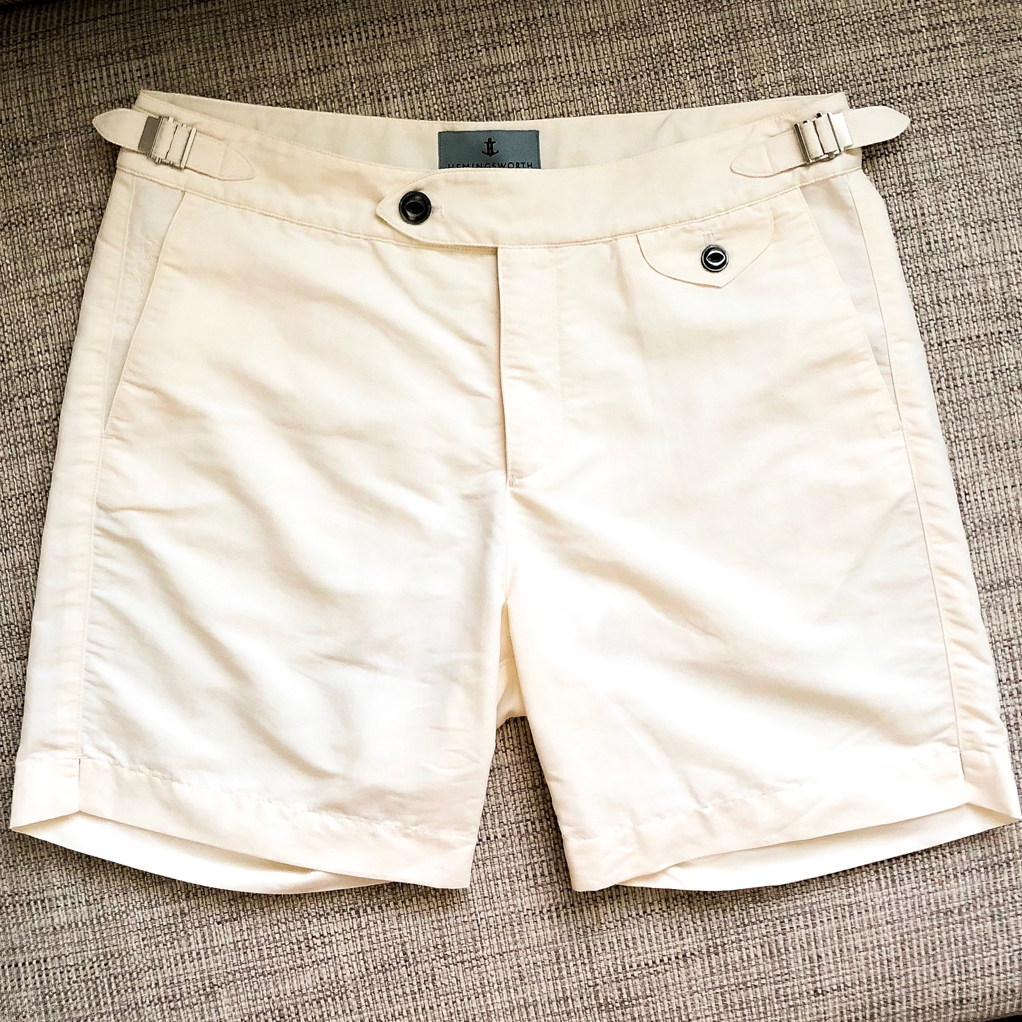 Hemingsworth Clipper swim short, pure white